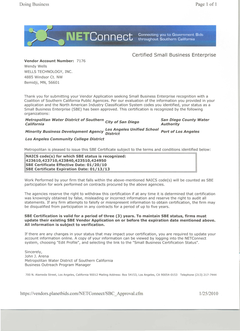 Wells Technology Inc - Precision Metal Machining