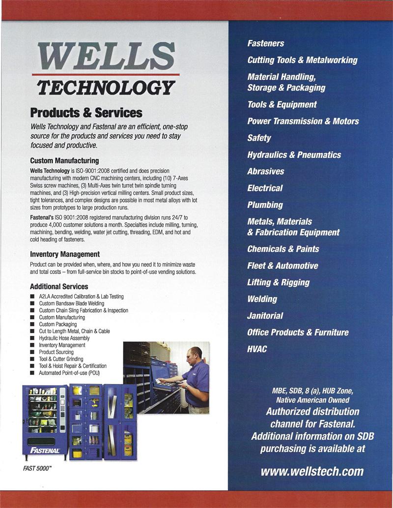 Wells technology inc precision metal machining line card pg 2 xflitez Gallery